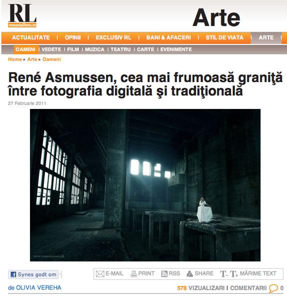 Foto interview Rumænsk avis